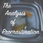 Analysis of procrastination, latent lifestyle, blog, act anyway