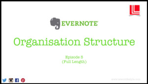 Evernote, organising, filing, tutorial, episode, latent lifestyle, act anyway