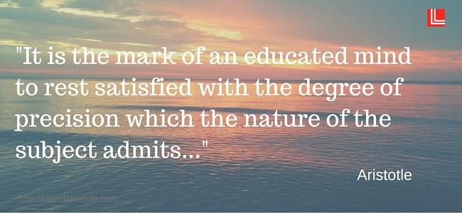 Aristotle, Quote, Focus for Success, Latent Lifestyle
